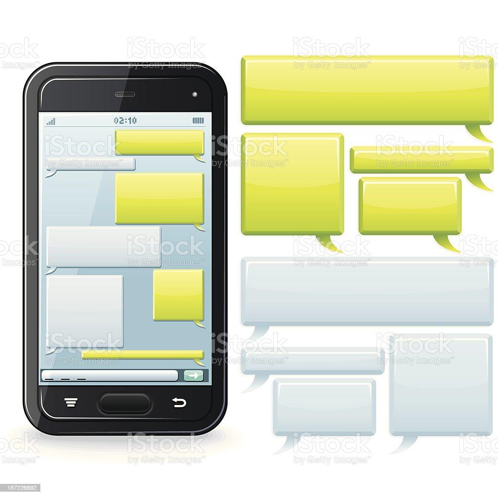 Chatting Template vector art illustration