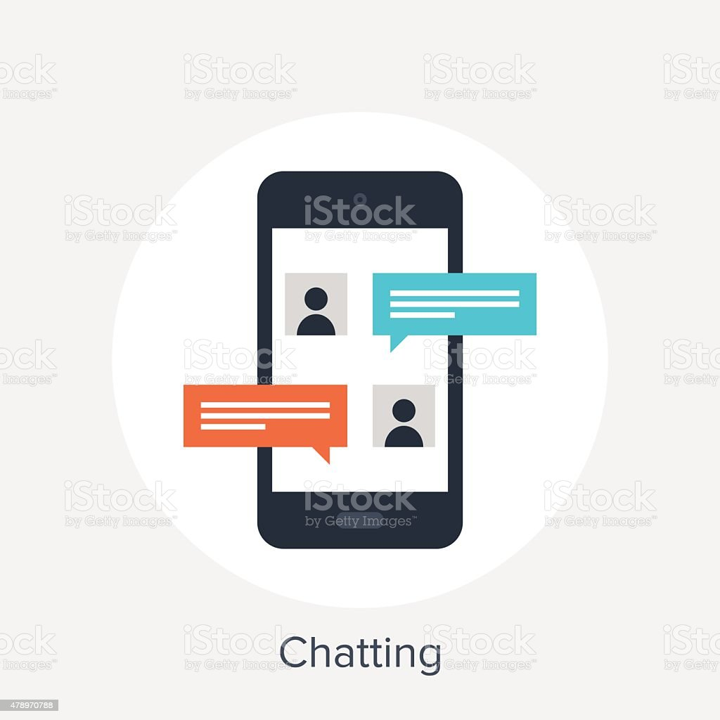 Chatting vector art illustration