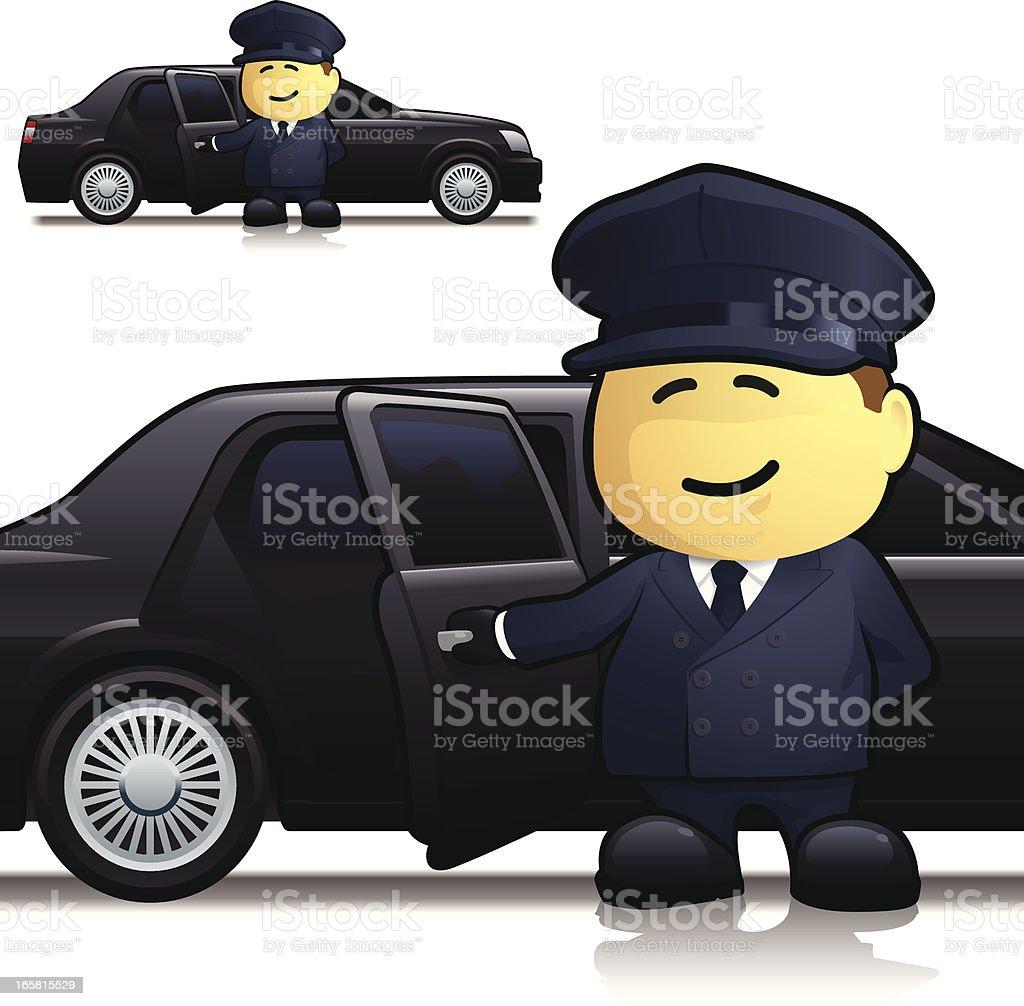 Chauffeur royalty-free stock vector art