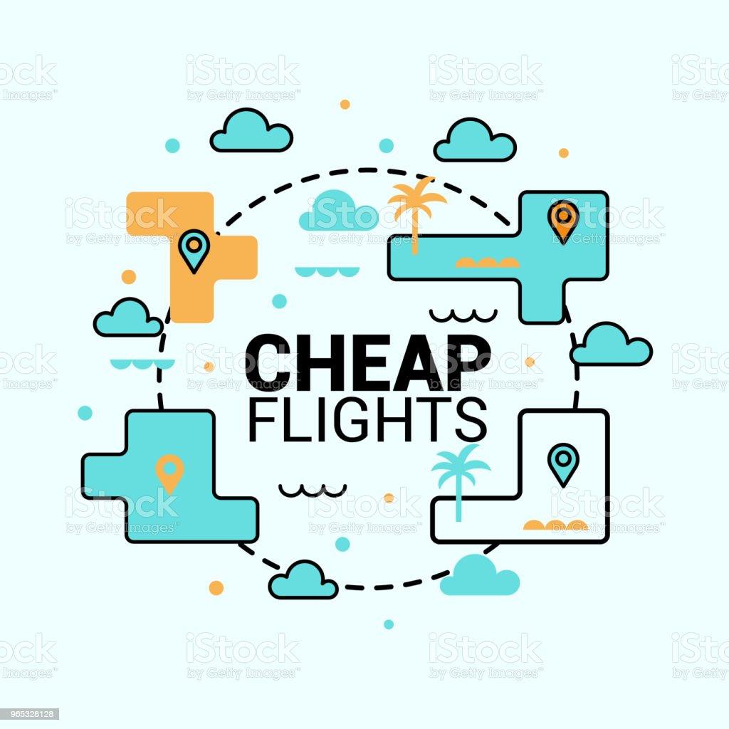 Icône de vols à bas prix. Le concept de voyage. Vecteur de plat. - clipart vectoriel de Affaires libre de droits