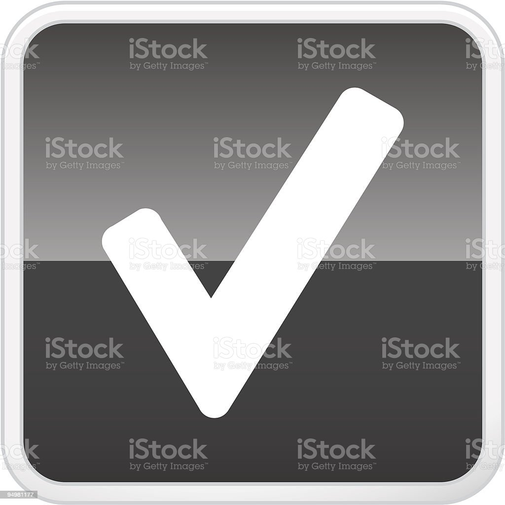 Check Button royalty-free check button stock vector art & more images of agreement