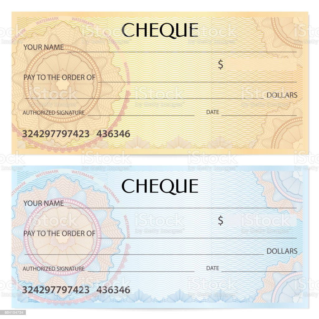 Check cheque, Chequebook template. Guilloche pattern with watermark, spirograph royalty-free check cheque chequebook template guilloche pattern with watermark spirograph stock vector art & more images of backgrounds