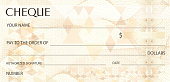 Background for banknote, money design, currency, bank note, Voucher, Gift certificate, Money coupon, ticket