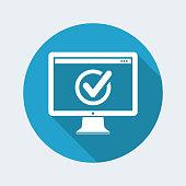 Check computer - Flat minimal icon