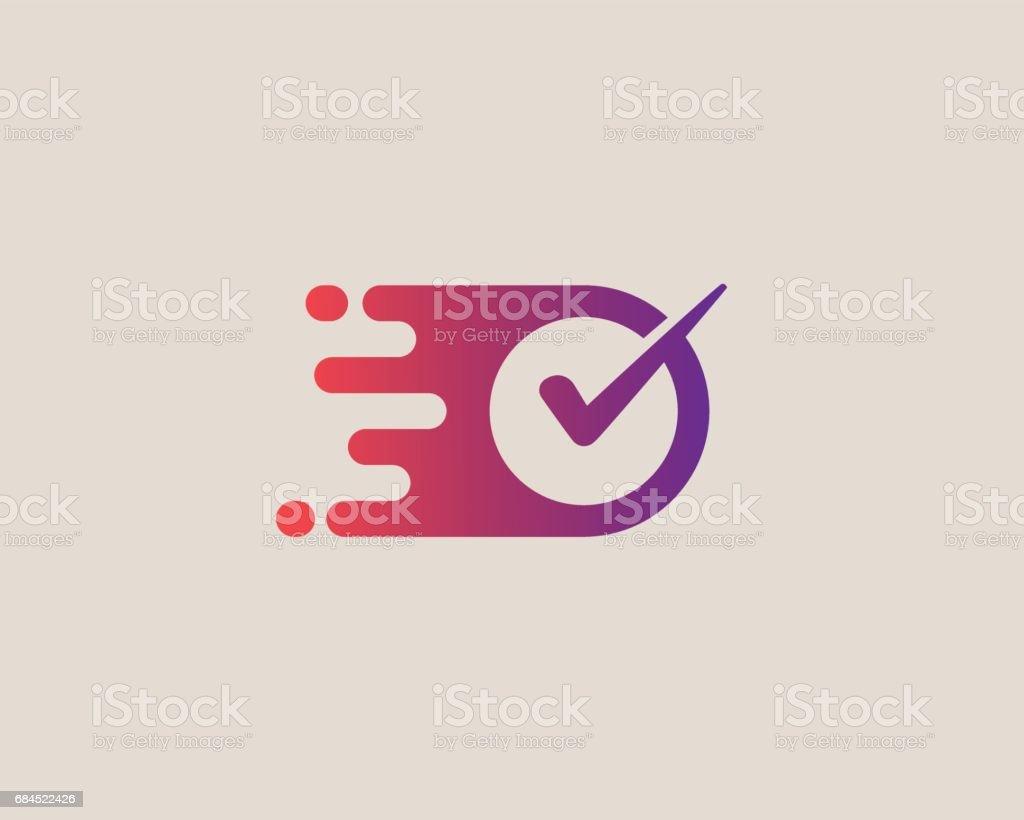 Emblemtype zu überprüfen. Rechten Vektor-Emblem-Design. – Vektorgrafik