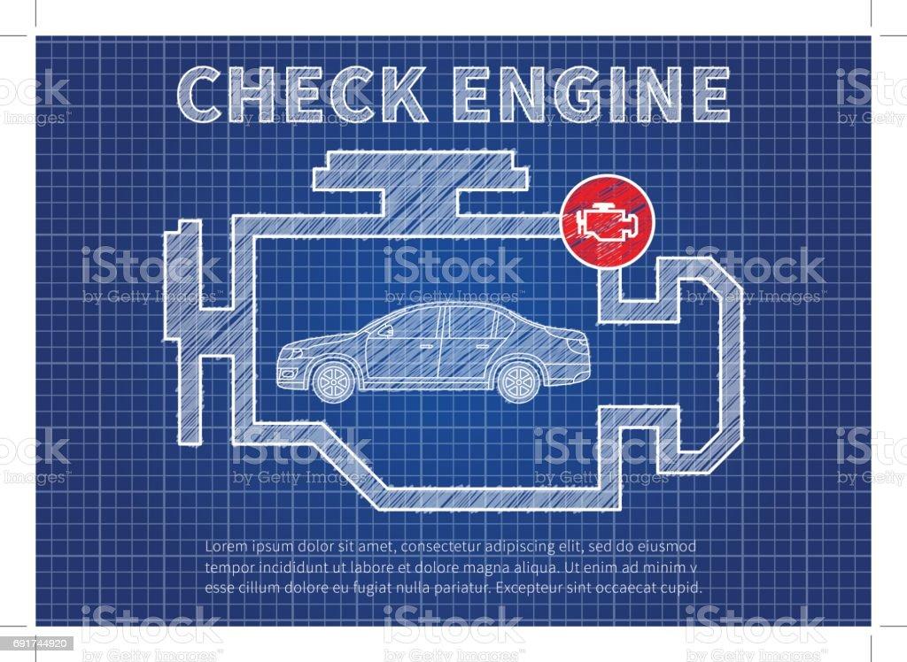 Ilustración de Verificar Diagnostico De Coches Motor Vector ...