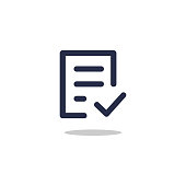 istock Check form icon for graphic and web design 1280964014
