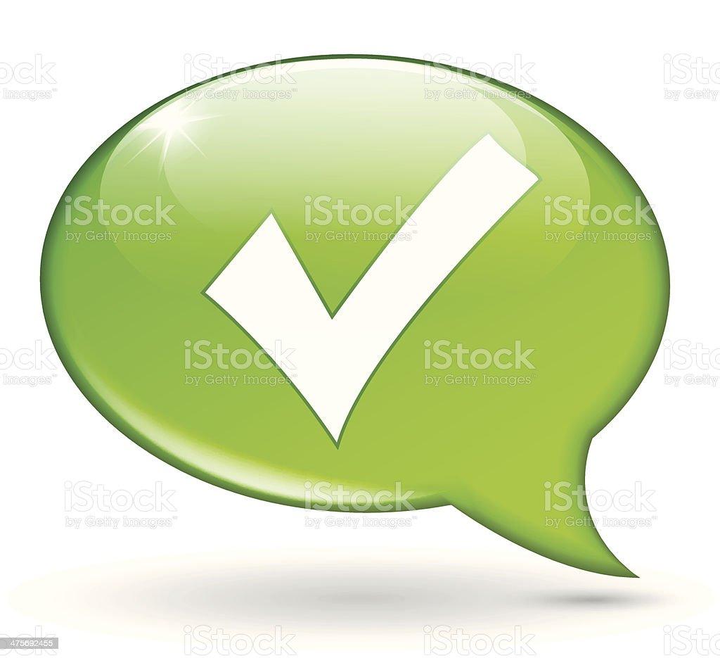 check green bubble royalty-free stock vector art