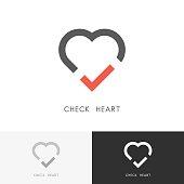 Check heart symbol