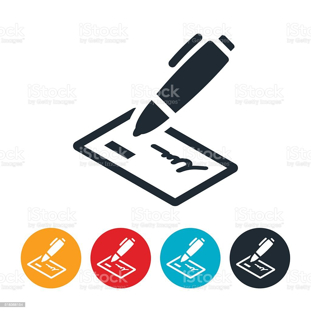 Check Icon vector art illustration