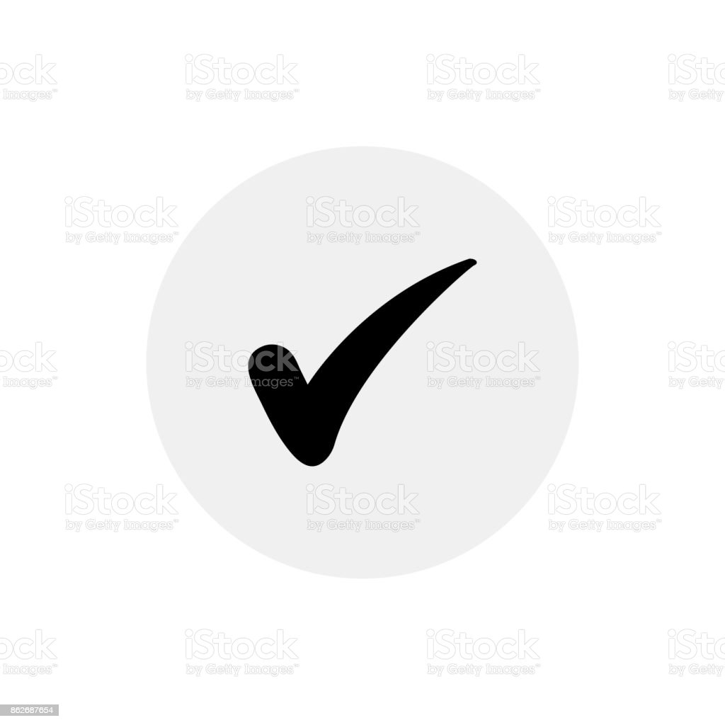 Check icon vector illustration vector art illustration