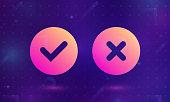 Check icon vector. Ok, Yes.