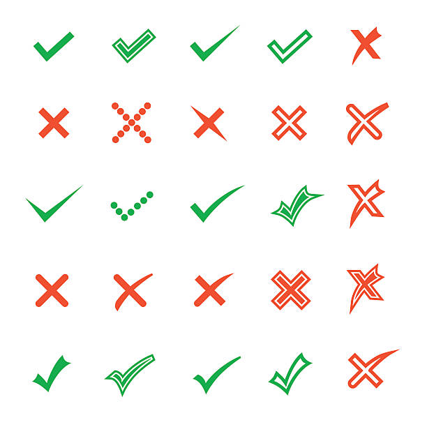 check icons - checked pattern stock illustrations