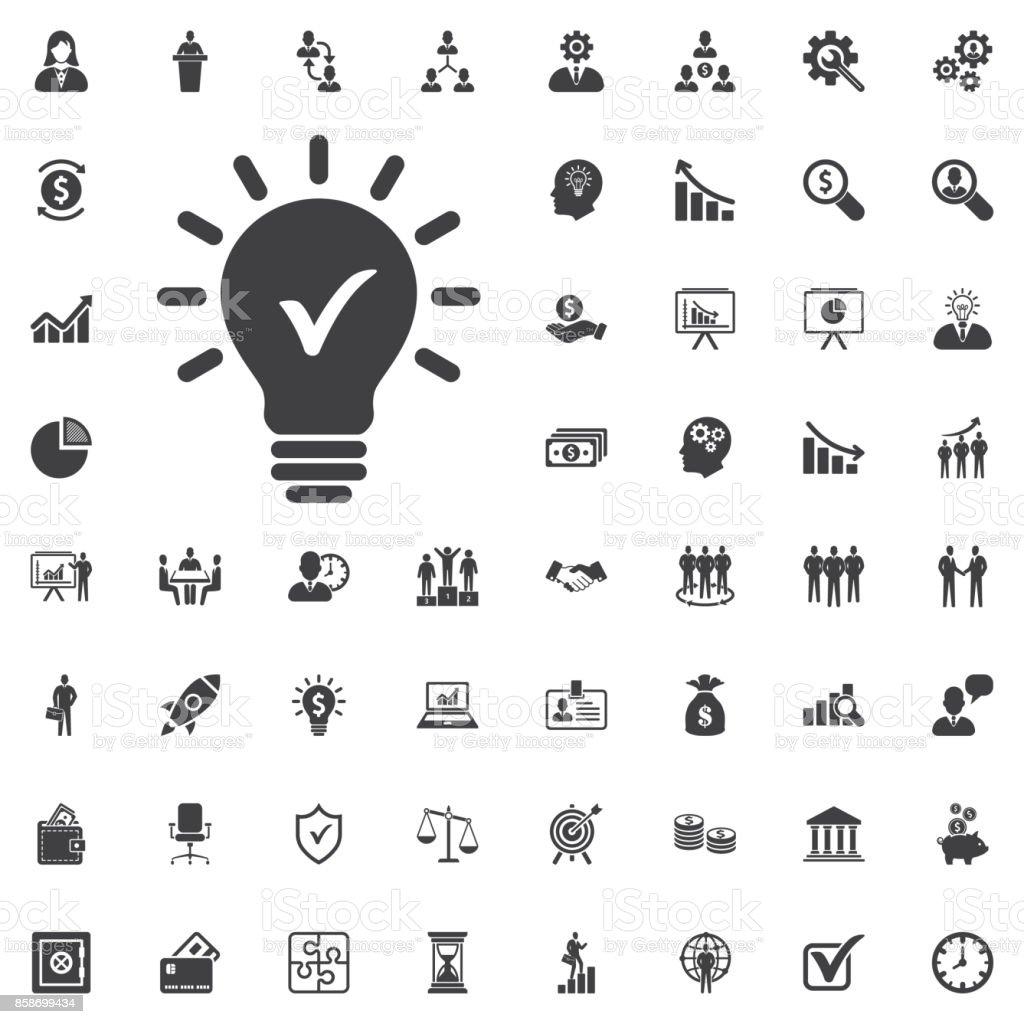 Innovative Idee Symbol zu überprüfen. – Vektorgrafik
