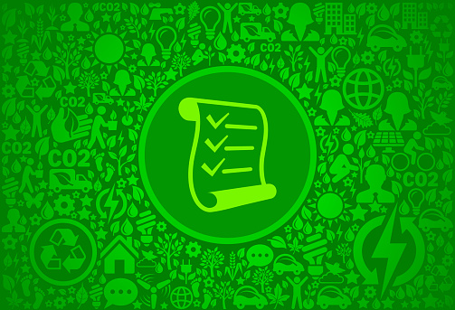 Check list Environment Green Vector Icon Pattern