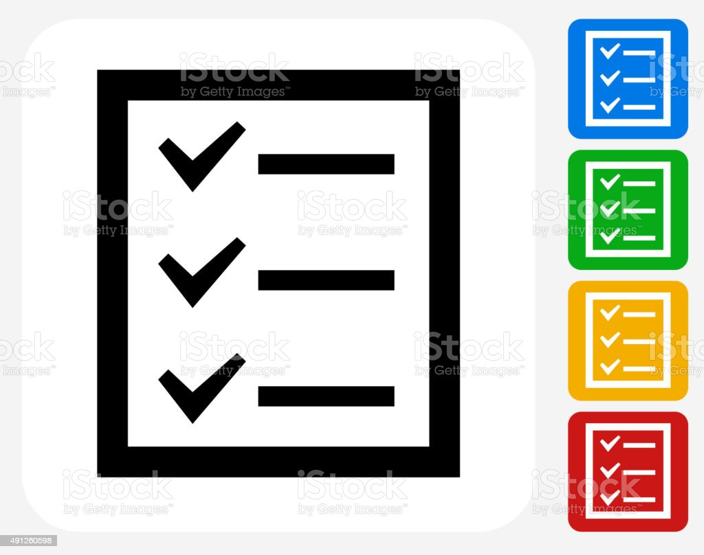 Check List Icon Flat Graphic Design vector art illustration