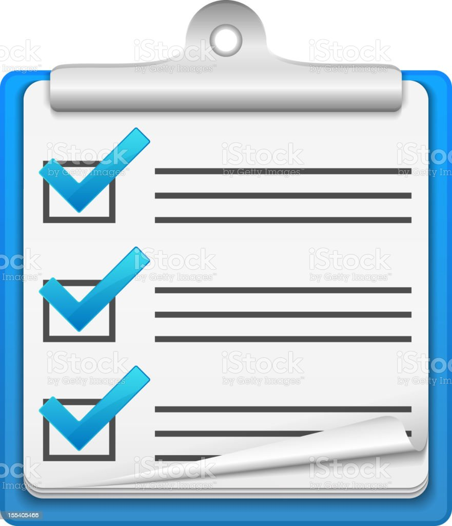 Check List Icon royalty-free check list icon stock vector art & more images of blue