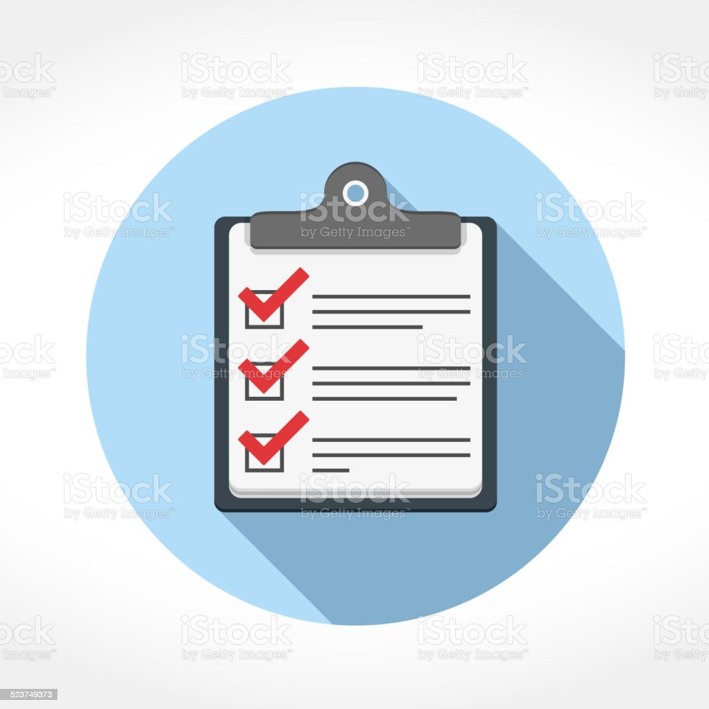 Check List Icon vector art illustration