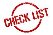 check list stamp