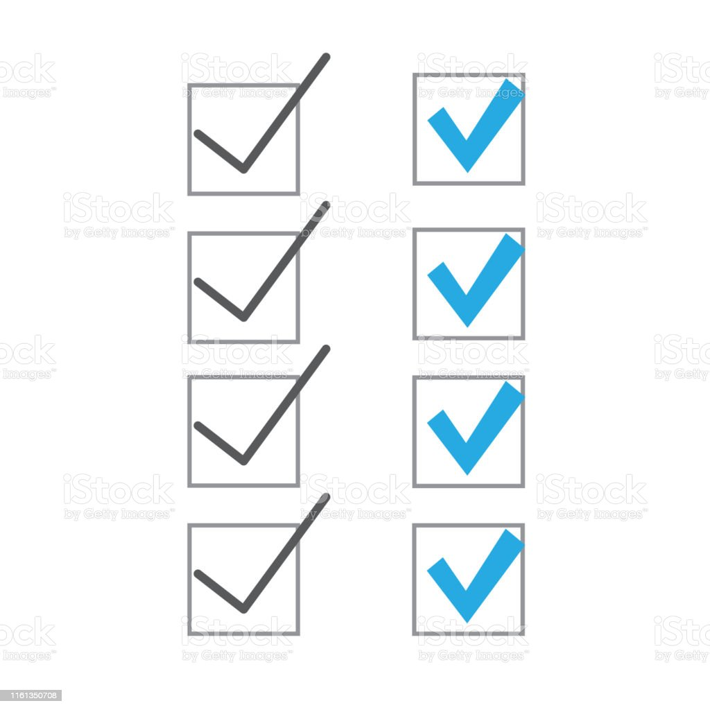 Check list symbol right mark. Clipboard and check marks.