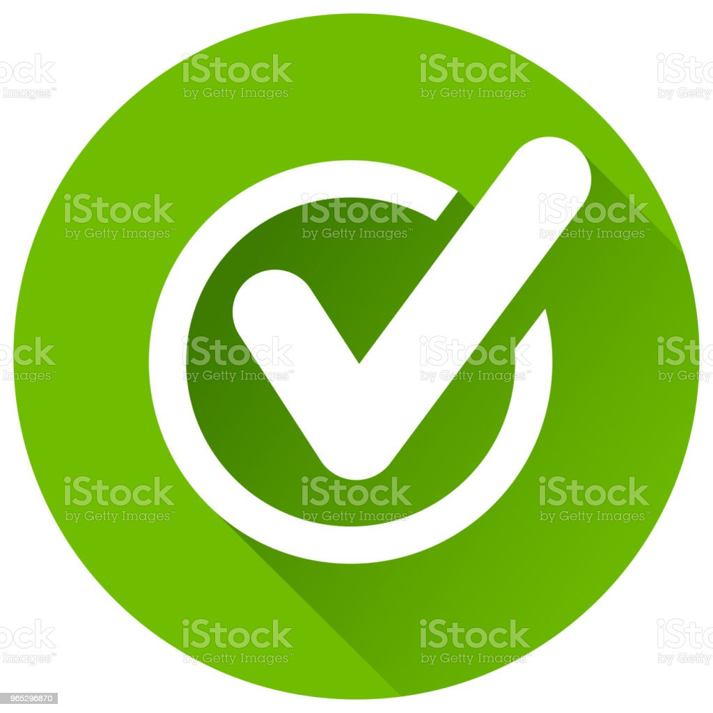 check mark green circle icon royalty-free check mark green circle icon stock vector art & more images of agreement