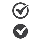 istock Check Mark Icon Flat Design. 1170269020