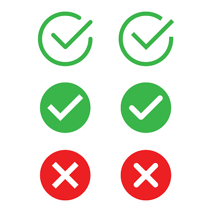 Check Mark Icon Set Vector Design.