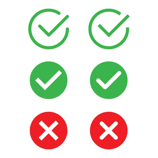 Check Mark Icon Set Vector Design. Vector Illustration EPS 10 File. alphabet icons stock illustrations