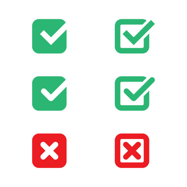 Check Mark Icon Set Vector Design. Vector Illustration EPS 10 File. check financial item stock illustrations