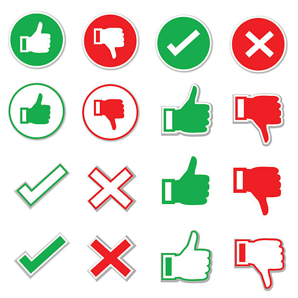 Check Mark Icon Set Check Mark Icon Set yeah right stock illustrations