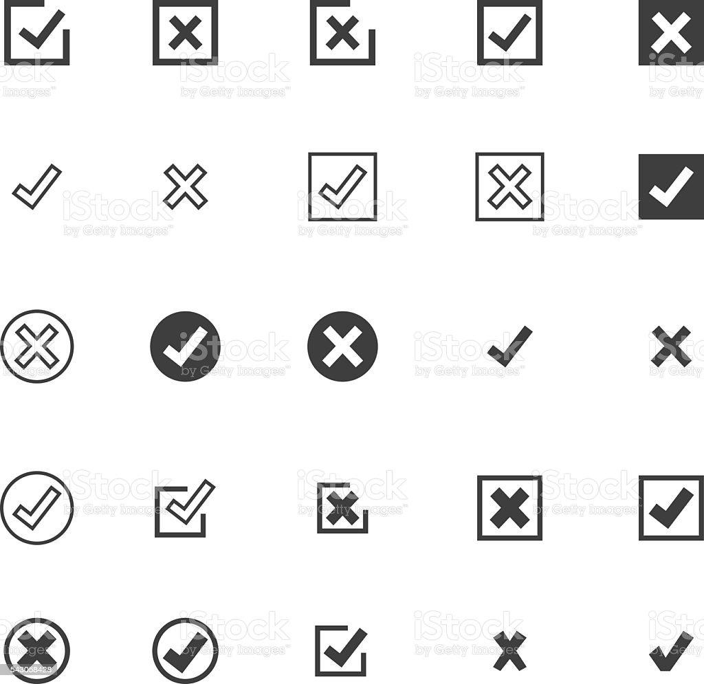 Check Mark Icon Set vector art illustration