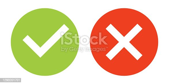 Check Mark Icon Set. Vector Stock Illustration