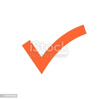 istock Check mark icon. Tick symbol in green color, vector illustration. Confirm signe 1159946600