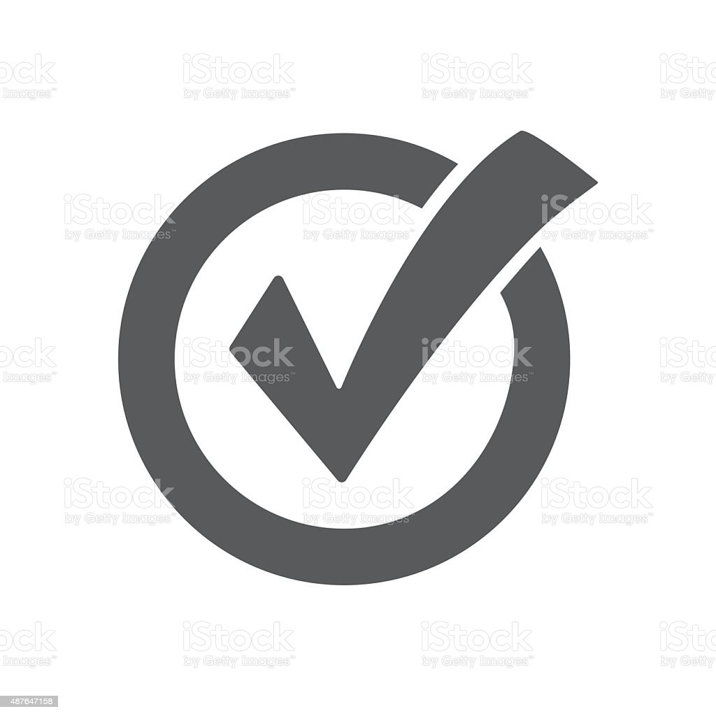 Check mark icon vector art illustration