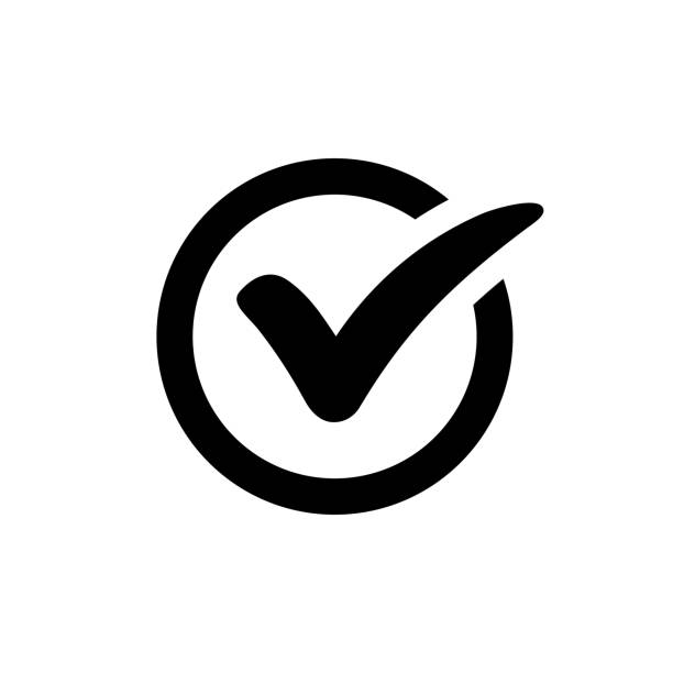 Check mark icon Check mark icon isolated on white background topics stock illustrations