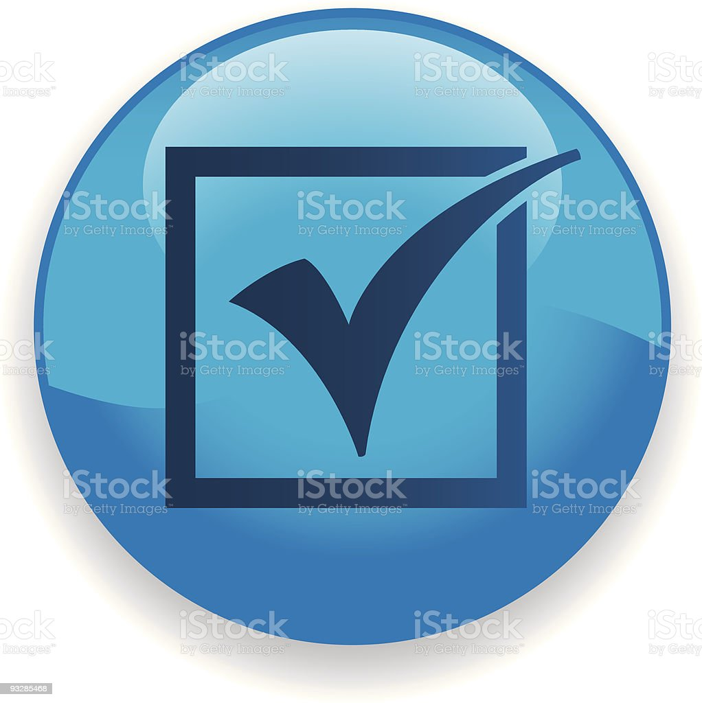 Check Mark Icon royalty-free stock vector art