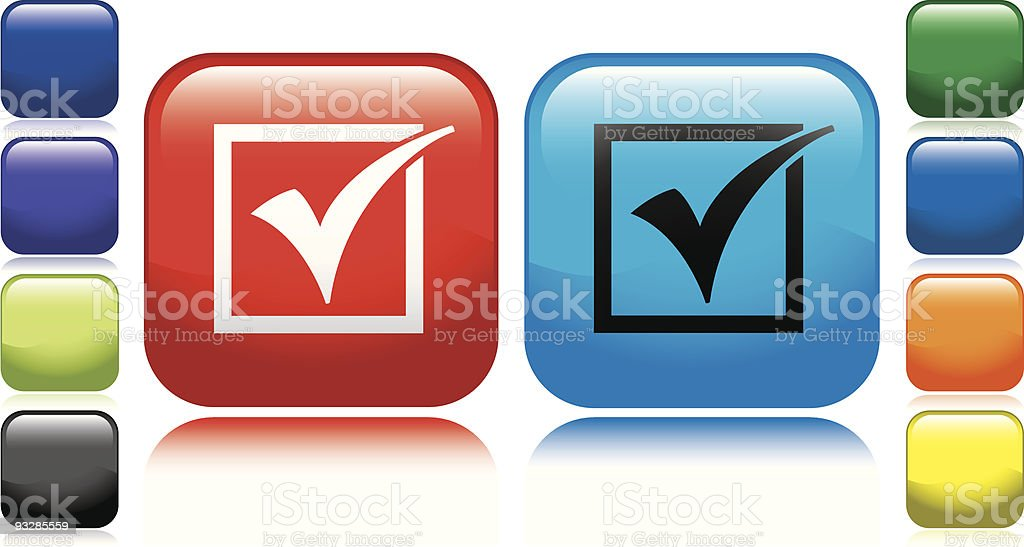 Check Mark Icon royalty-free check mark icon stock vector art & more images of black color