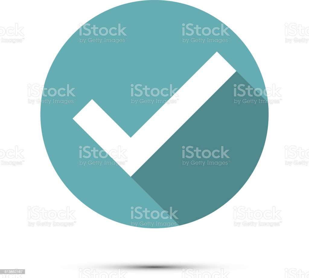 Check mark icon. Vector vector art illustration