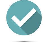 Check mark icon. Vector