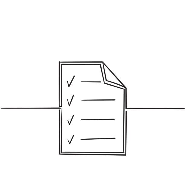 illustrations, cliparts, dessins animés et icônes de vérifiez les icônes de la ligne de marque. vérifier les marques, les tiques, la qualité, approuver les concepts. symboles simples de griffonnage avec le vecteur linéaire moderne de collection d'éléments graphiques d'art de ligne - aide soignant