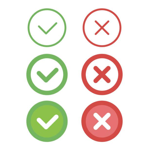 check mark line icons set. vector illustration - прикрывать stock illustrations