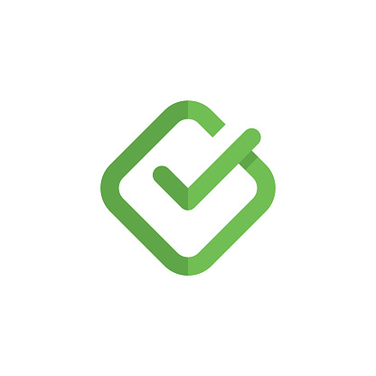 Check mark logo design vector - yes correct vote approved right box choose accept positive done