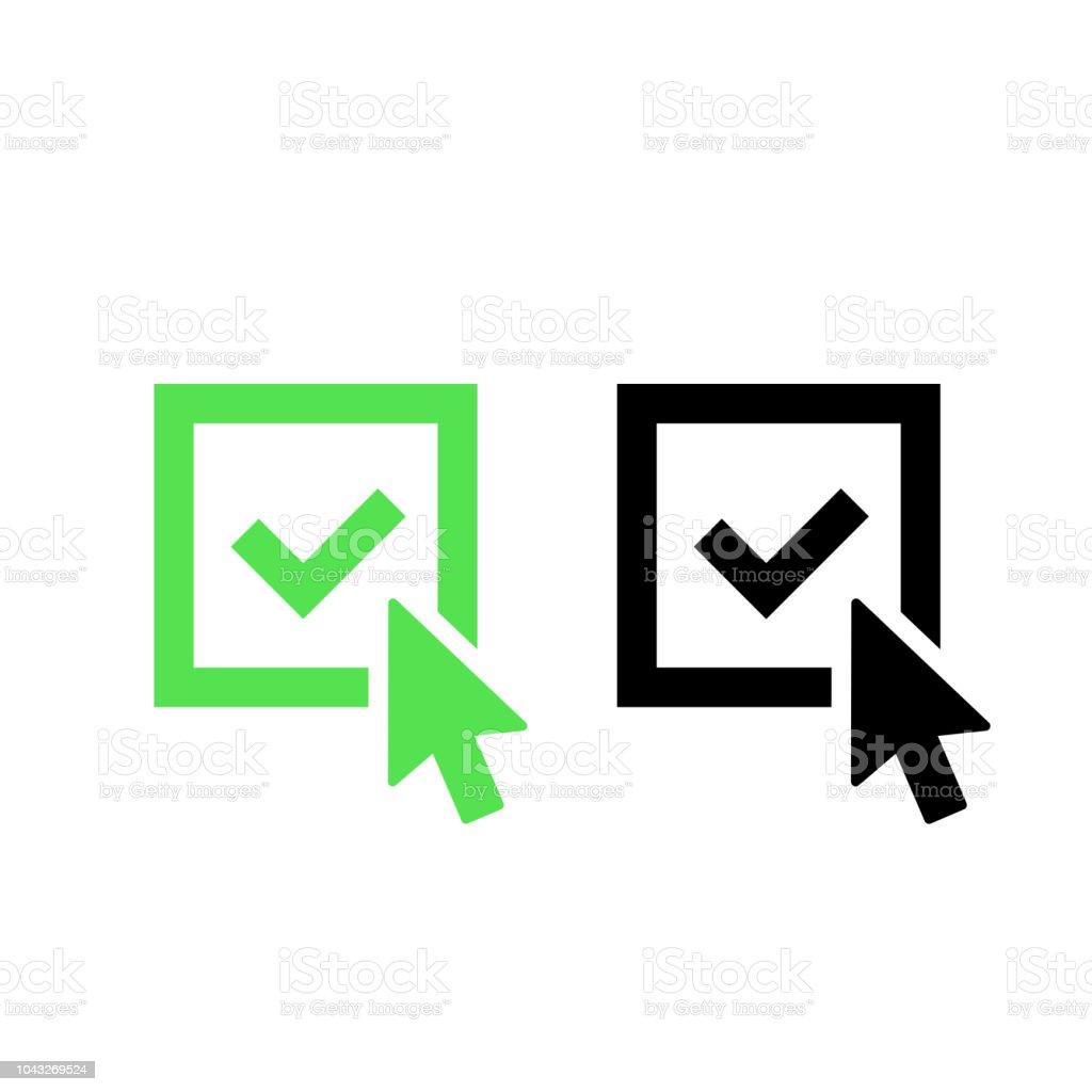 Check Mark Logo Icon Tick Symbol In Green And Black Color