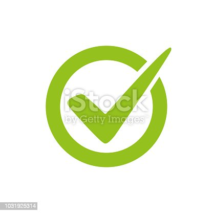 Check mark logo vector or icon. T approvement or cheklist design