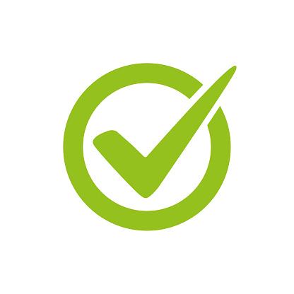 Check mark logo vector or icon. T approvement or cheklist design