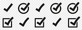 istock Check mark set. Vector check mark icons collection. Flat style - stock vector. 1215143381
