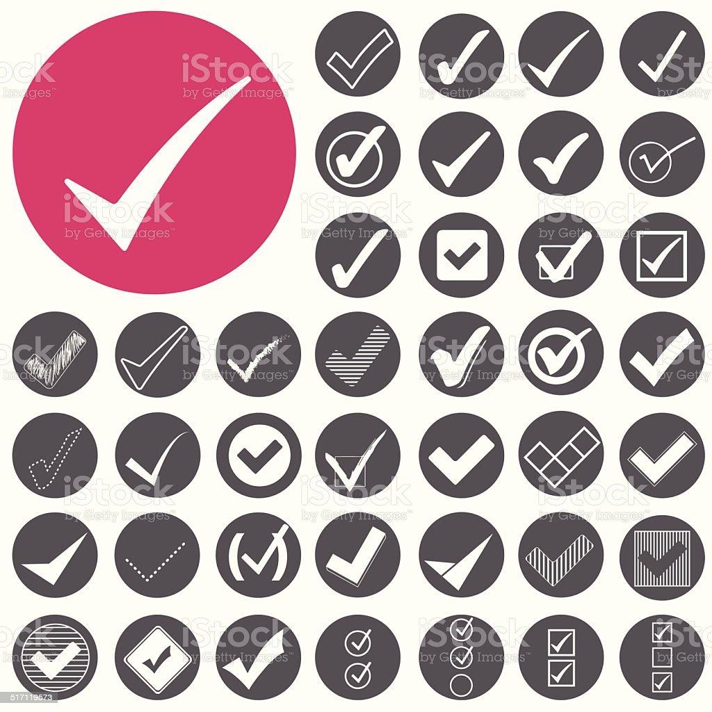 Check mark-Symbol icons set.  Vektor-Illustration eps10 – Vektorgrafik