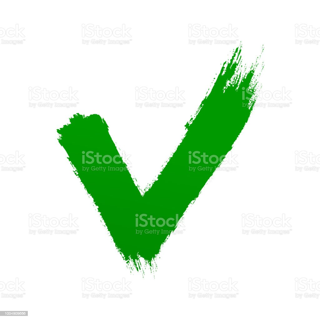 Check Mark Symbol Brush Stroke Lines Letter V Stock Vector Art