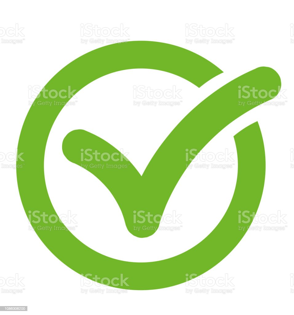 Check Mark Symbol Icon Check List Button Icon In A Circle Stock  Illustration - Download Image Now