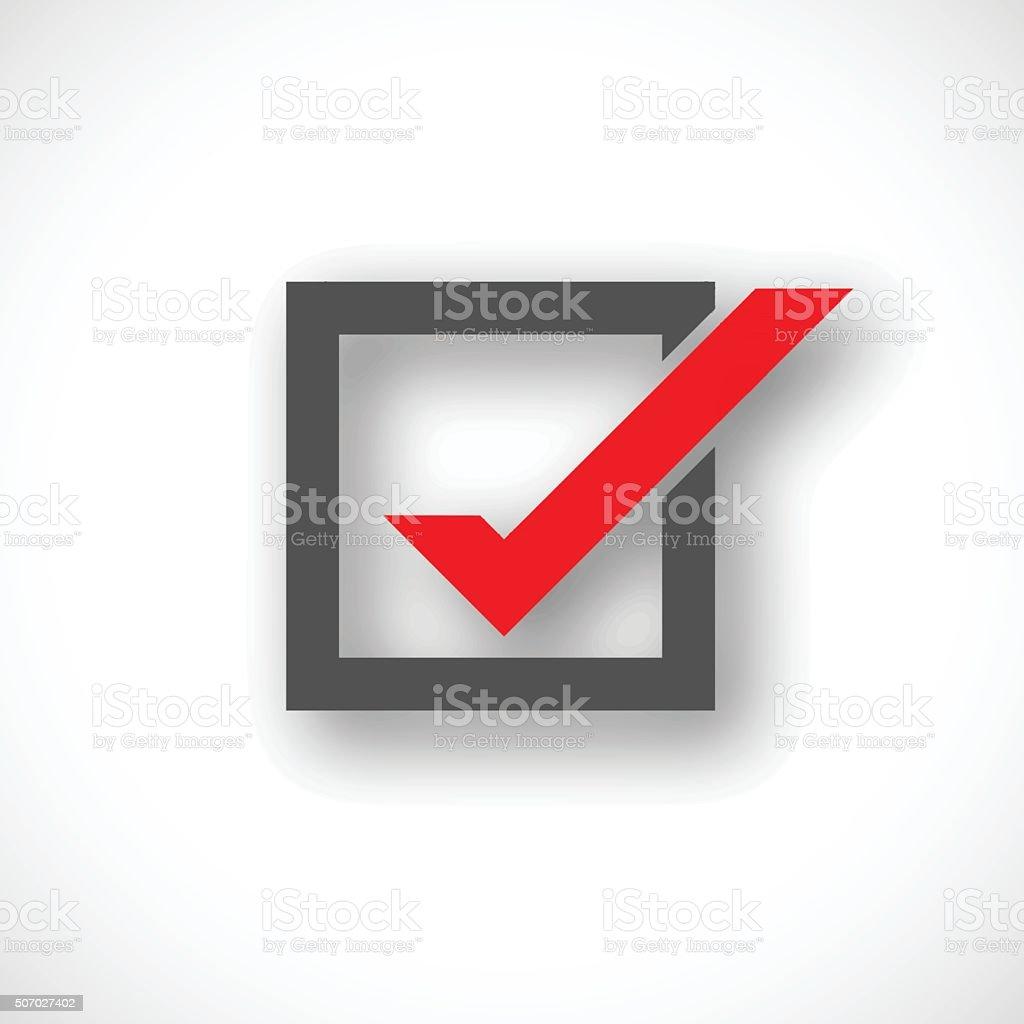 Check mark symbol vector art illustration